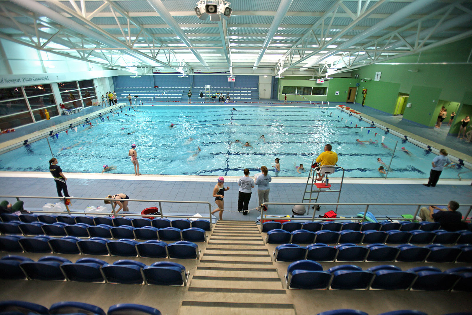 Indoor swimming pool at regional pool and tennis centre