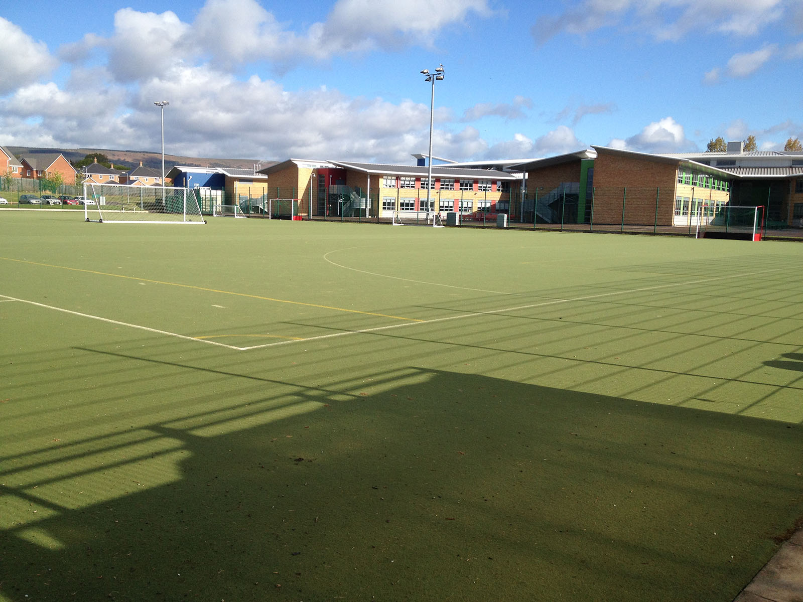 wide outdoor football field at active living centre