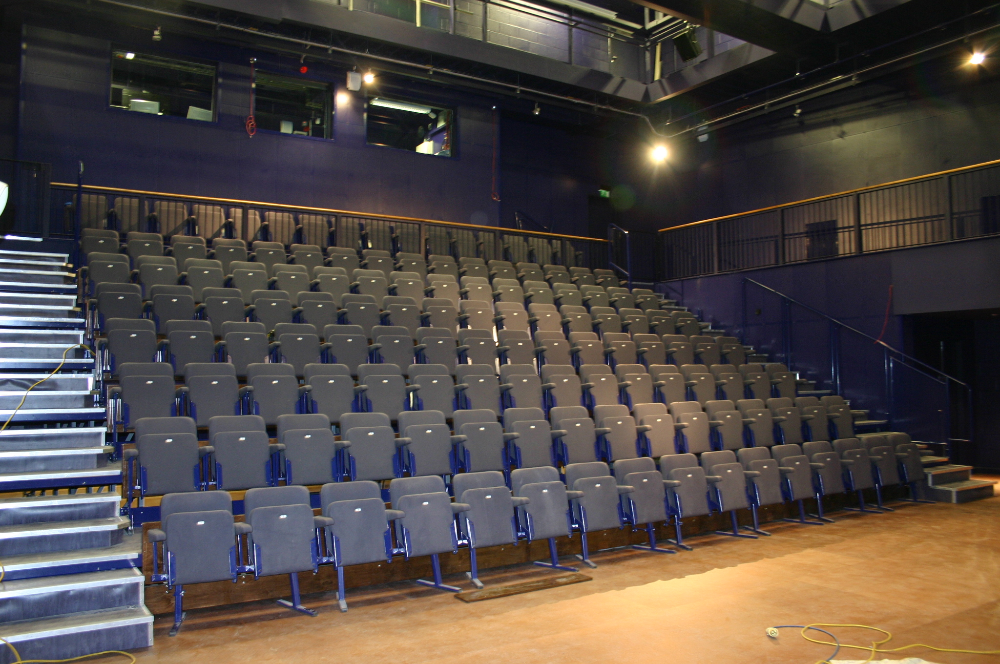 Tiered seating in the studio theatre