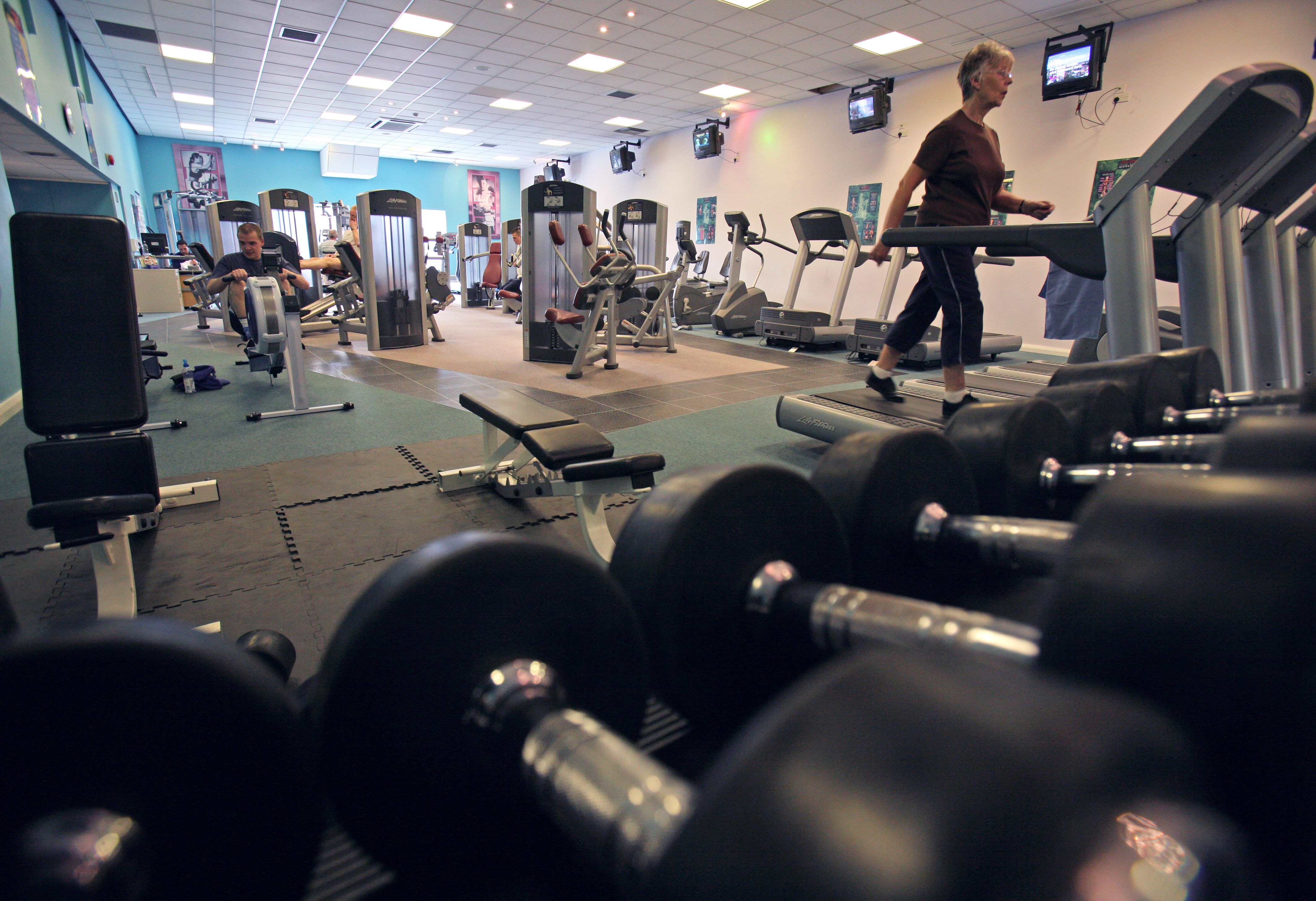 Internal view of the Newport Centre Gym