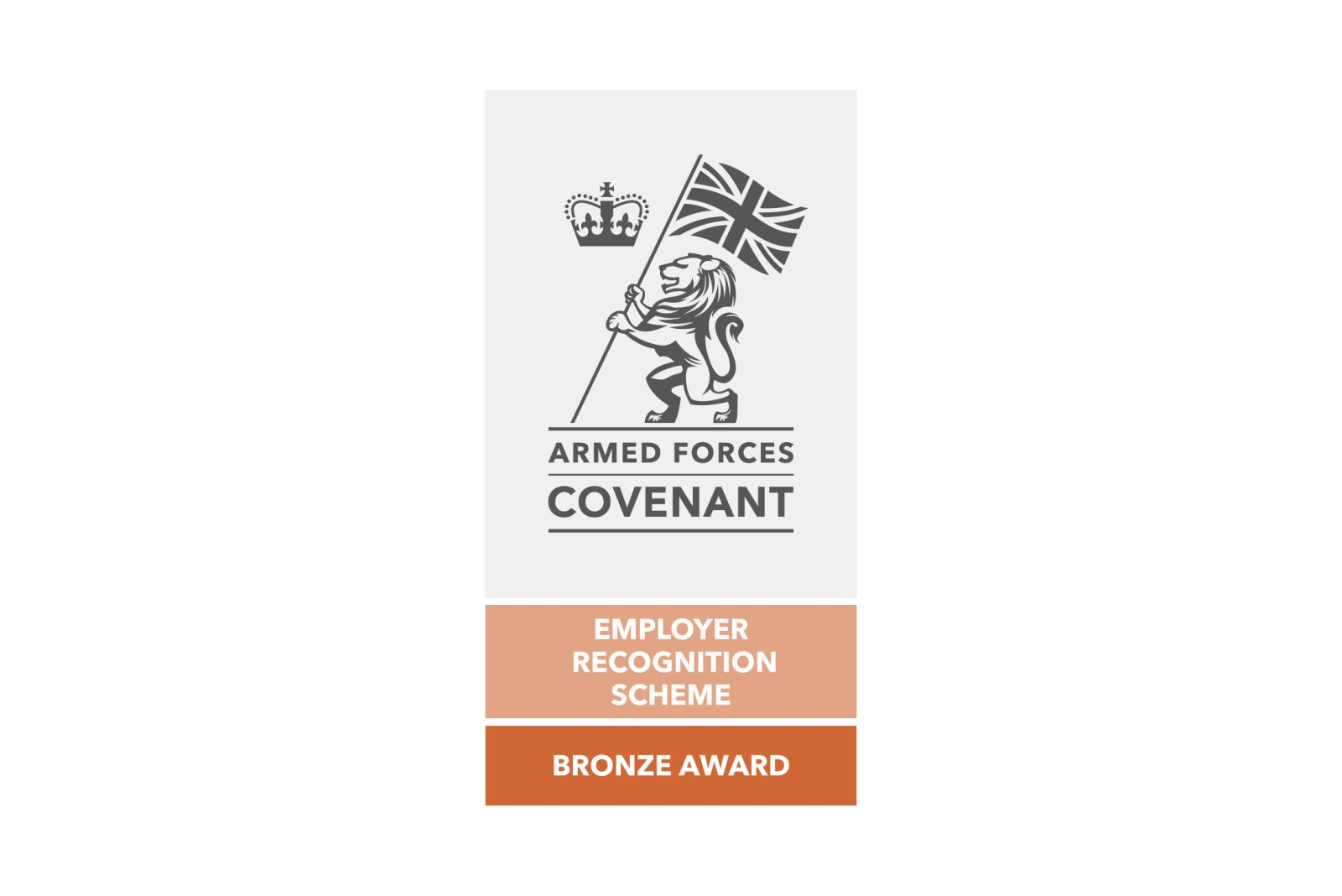 Bronze award recognising Armed Forces Covenant