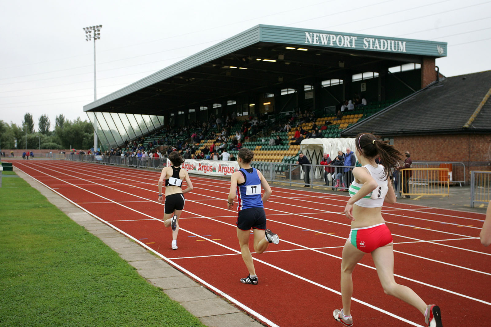 people running on newport stadium running track